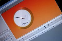 Picture of Orange Coconut countdown clock on monitor