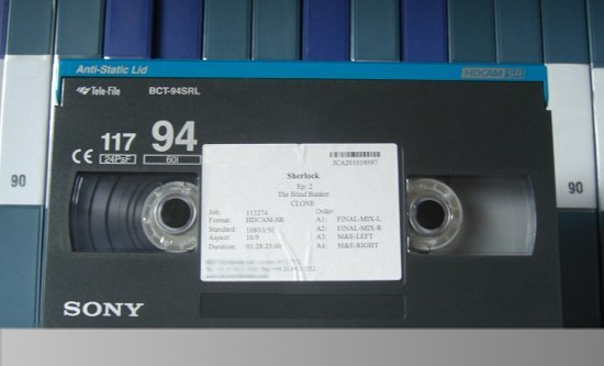 Picture of HDCAM SR cassette
